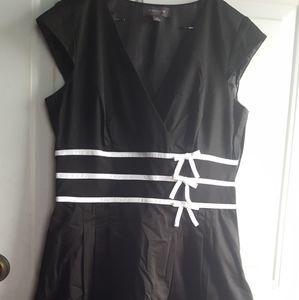 Liz Claiborne Black and White Dress